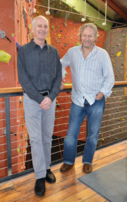 Dan Cauthorn and Rich Johnston, Founders of the Vertical Club, now known as the Vertical World.
